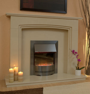 Ashbourne Marble Fireplace Hearth & Back Panel - bespokemarblefireplaces