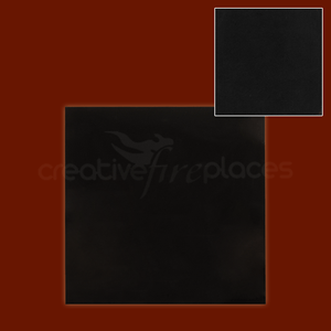 Black Granite Back Panel Solid Without cut out - bespokemarblefireplaces