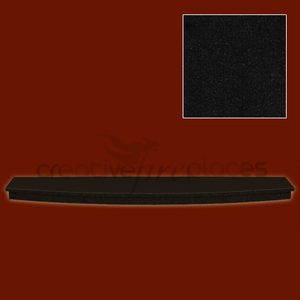 Black Granite Hearth Bowed - bespokemarblefireplaces