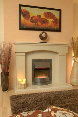 Electric Fireplace Cambridge E1 Package without lights - bespokemarblefireplaces