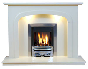 Marble Fireplace Carlton Surround with Lights - bespokemarblefireplaces
