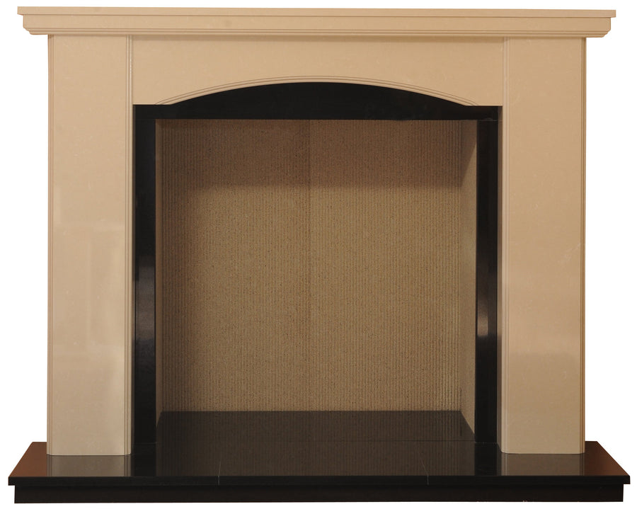 Charrington Solid fuel Marble Fireplace & Hearth - bespokemarblefireplaces