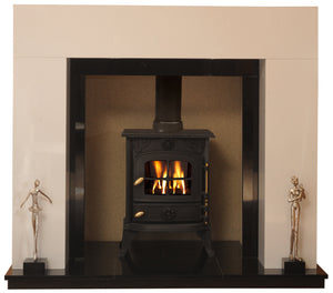 Chelmsford Solid fuel Marble Fireplace & Hearth - bespokemarblefireplaces