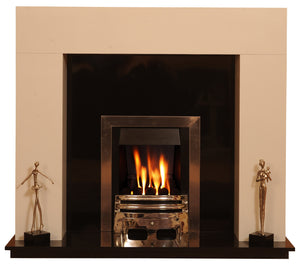 Marble Fireplace Chelmsford Surround with Gas Fire - bespokemarblefireplaces