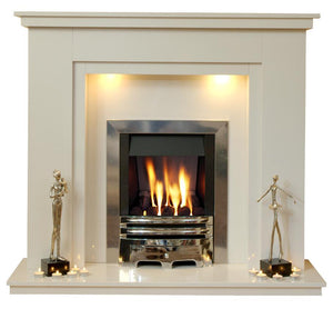 Chesterfield Marble Fireplace Hearth & Back Panel