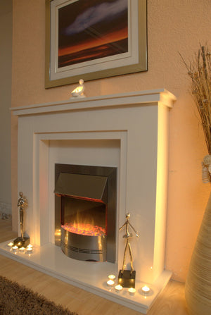 Marble Fireplace  Chesterfield Surround with Electric Fire- bespokemarblefireplaces