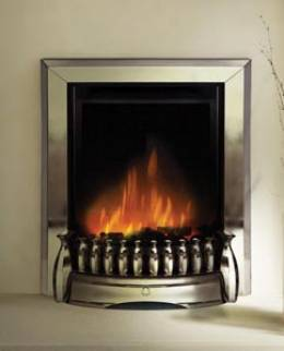 E6 Chrome Electric Fire - bespokemarblefireplaces