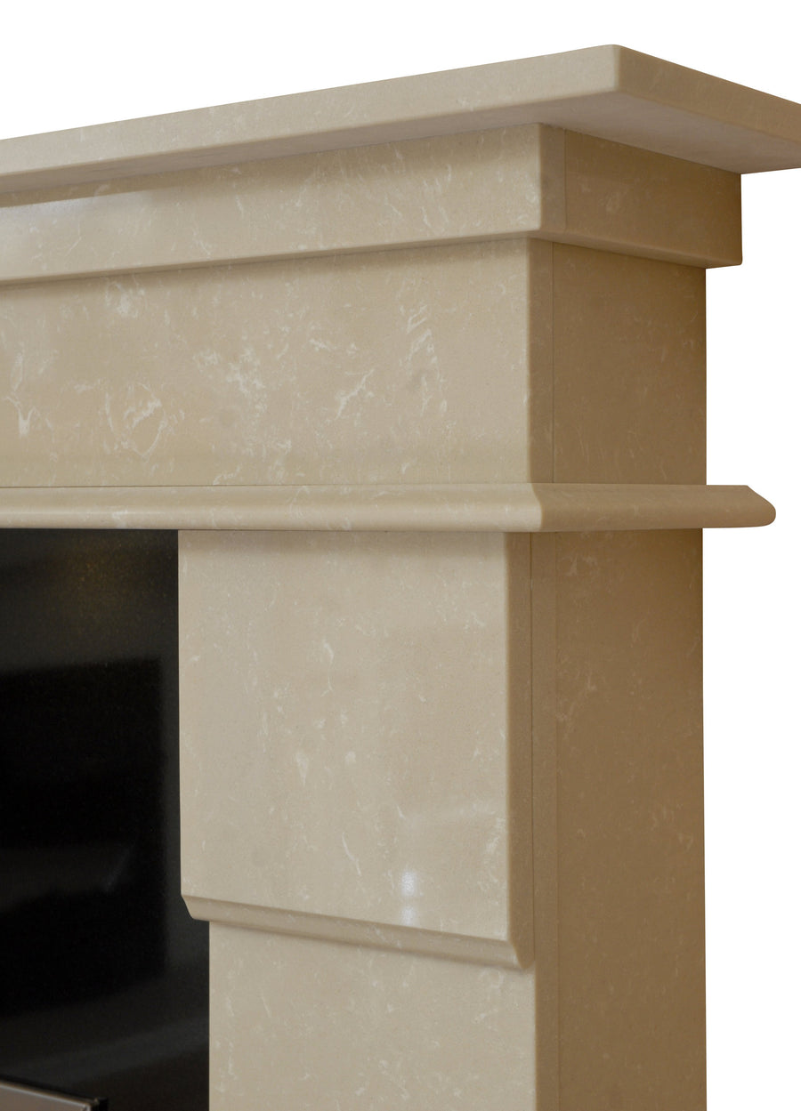 Elegance Marble Fireplace Hearth & Back Panel