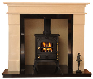 Elegance Solid fuel Marble Fireplace & Hearth - bespokemarblefireplaces