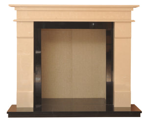 Elegance Solid fuel Marble Fireplace & Hearth