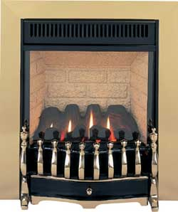 GF1 Brass Gas Fire - bespokemarblefireplaces