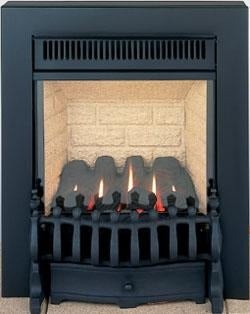 GF2 Black Gas Fire - bespokemarblefireplaces
