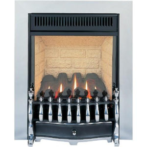 GF3 Chrome Gas Fire - bespokemarblefireplaces
