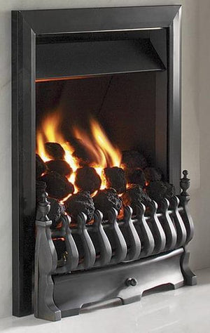RG10 Black Remote Control Gas Fire - bespokemarblefireplaces