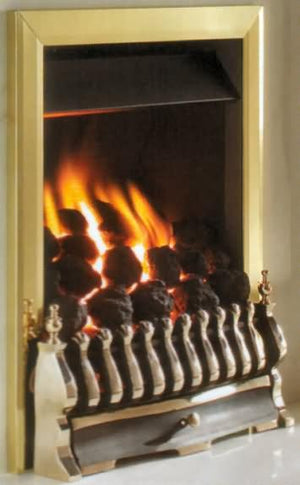 RG10 Brass Remote Control Gas Fire - bespokemarblefireplaces