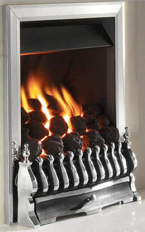 RG10 Chrome Remote Control Gas Fire - bespokemarblefireplaces