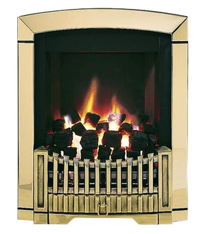 SG13 Brass Side Control Gas Fire - bespokemarblefireplaces