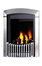 SG13 Chrome Side Control Gas Fire - bespokemarblefireplaces