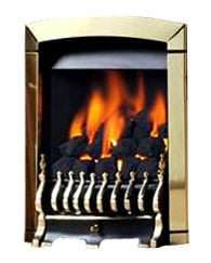 SG14 Brass Side Control Gas Fire - bespokemarblefireplaces