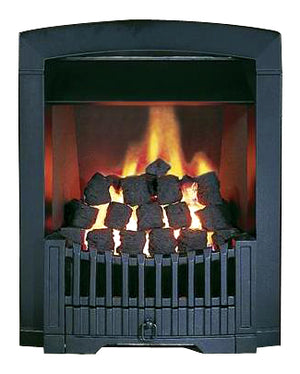 SG15 Black Side Control Gas Fire - bespokemarblefireplaces