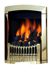 SG15 Brass Side Control Gas Fire - bespokemarblefireplaces