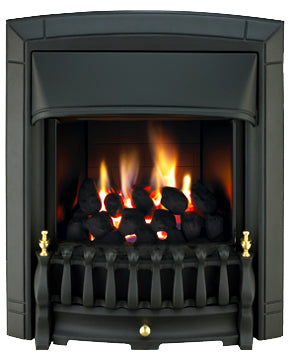 SG16 Black Side Control Gas Fire - bespokemarblefireplaces