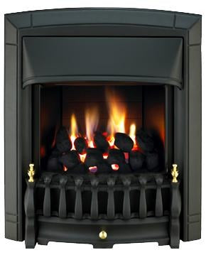 BF16 Black Gas Fire - bespokemarblefireplaces
