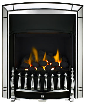 SG16 Chrome Side Control Gas Fire - bespokemarblefireplaces