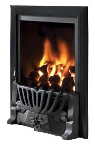 RG21 Black Remote Control Gas Fire - bespokemarblefireplaces