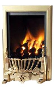 RG21 Brass Remote Control Gas Fire - bespokemarblefireplaces