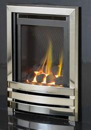 HE G24 Stainless Steel Coal Gas Fire - bespokemarblefireplaces