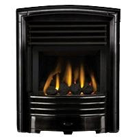 HE G25 Black Gas Fire - bespokemarblefireplaces