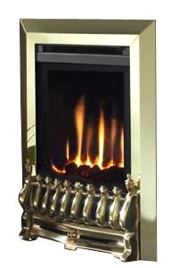 BF28 Brass Gas Fire - bespokemarblefireplaces