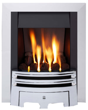 G2 Chrome Gas Fire - bespokemarblefireplaces