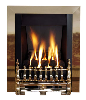 G3 Brass Gas Fire - bespokemarblefireplaces