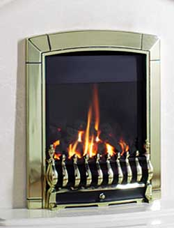 G4 Brass Gas Fire - bespokemarblefireplaces