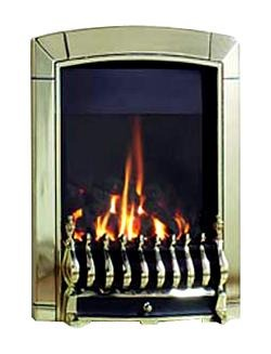 RG4 Brass Remote Control Gas Fire - bespokemarblefireplaces