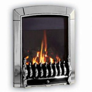 G4 Chrome Gas Fire - bespokemarblefireplaces