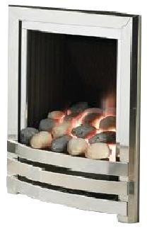 G5 Chrome Gas Fire - bespokemarblefireplaces