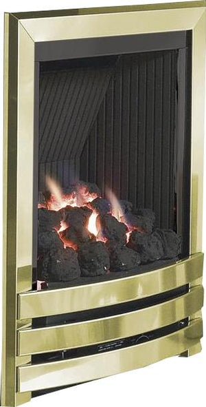 G5 Brass Gas Fire - bespokemarblefireplaces