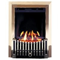 BF8 Brass Gas Fire - bespokemarblefireplaces