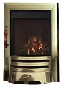 BF9 Brass Gas Fire - bespokemarblefireplaces