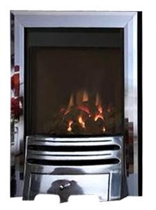 BF9 Chrome Gas Fire - bespokemarblefireplaces
