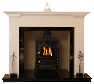 Hamilton Solid fuel Marble Fireplace & Hearth - bespokemarblefireplaces