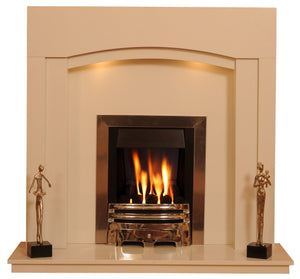 Marble Fireplace Kingston Surround with lights - bespokemarblefireplaces