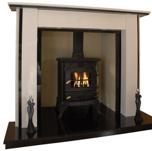 Lynford Solid fuel Marble Fireplace & Hearth