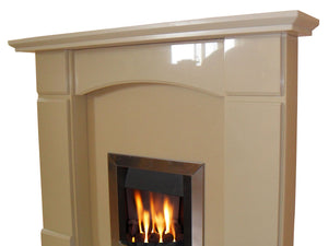 Oxford Marble Fireplace Hearth & Back Panel