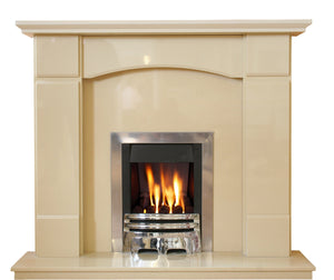 Marble Fireplace  Oxford Surround with Gas Fire- bespokemarblefireplaces