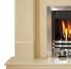 Marble Fireplace Oxford Surround Pillar Foot Design- bespokemarblefireplaces