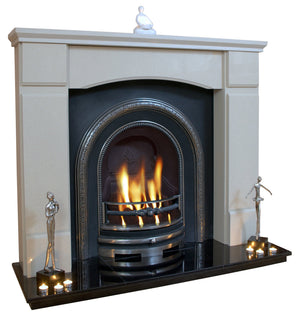 Victorian Marble Fireplace Oxford Surround with black hearth- bespokemarblefireplaces